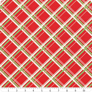 Manufacturer: Moda Fabrics Designer: Urban Chiks Collection: Deer Christmas Print Name: Plaid in Peppermint Material: 100% Cotton  Weight: Quilting  SKU: 31162-12 Width: 44 inches