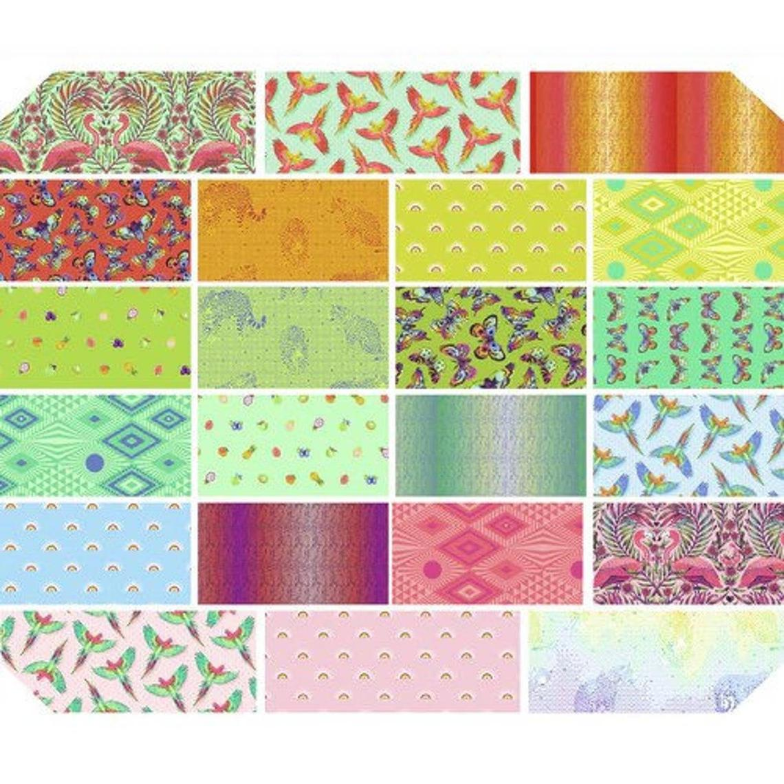 This HALF YARD bundle contains 22 quilting cotton prints from Daydreamer by Tula Pink for Freespirit Fabrics  Manufacturer: FreeSpirit Fabrics Designer: Tula Pink Collection: Daydreamer Material: 100% Cotton  Weight: Quilting
