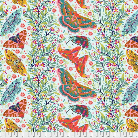 Manufacturer: FreeSpirit Fabrics Designer: Anna Maria Horner Collection: Hindsight Print Name: Sinister Gathering in Spring Material: 100% Cotton  Weight: Quilting  SKU: PWAH146.Spring Width: 44 inches