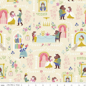 Manufacturer: Riley Blake Designs Designer: Jill Howarth Collection: Beauty and the Beast Print Name: Beauty and the Beast Main in Cream Material: 100% Cotton  Weight: Quilting  SKU: C9530R-CREAM Width: 44 inches