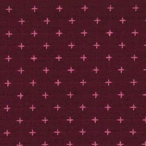 Manufacturer: Diamond Textiles Designer: Diamond Textiles Collection: Manchester Embroidered Cotton Print Name: Plum Pink Material: 100% Yarn Dyed Cotton SKU: 3202 Width: 44 inches