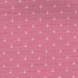 Manufacturer: Diamond Textiles Designer: Diamond Textiles Collection: Manchester Embroidered Cotton Print Name: Rose Quartz Material: 100% Yarn Dyed Cotton SKU: 3336 Width: 44 inches