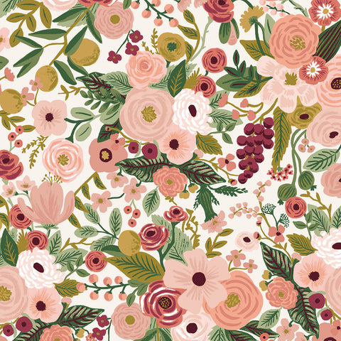Manufacturer: Cotton and Steel Designer: Rifle Paper Co. Collection: Garden Party Print Name: Garden Party in Rose Material: 100% Cotton  Weight: Quilting  SKU: RP100-RO6 Width: 44 inches