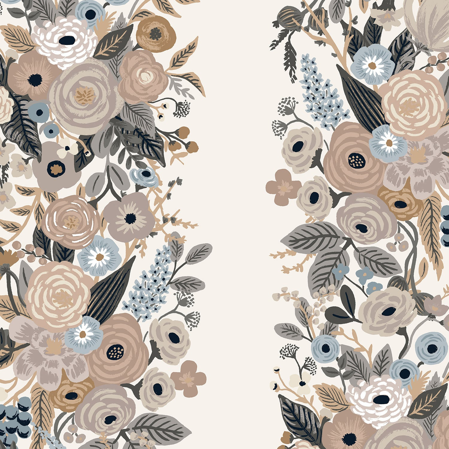 Manufacturer: Cotton and Steel Designer: Rifle Paper Co. Collection: Garden Party Print Name: Vines in Linen Material: 100% Cotton  Weight: Quilting  SKU: RP101-LM5 Width: 44 inches