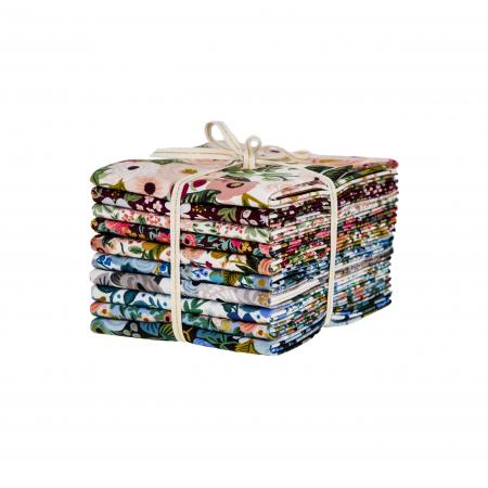 This FAT QUARTER bundle contains 10 quilting cotton prints from Garden Party by Rifle Paper Co. for Cotton and Steel Fabrics  Manufacturer: Cotton and Steel Fabrics Designer: Rifle Paper Co. Collection: Garden Party Material: 100% Cotton  Weight: Quilting