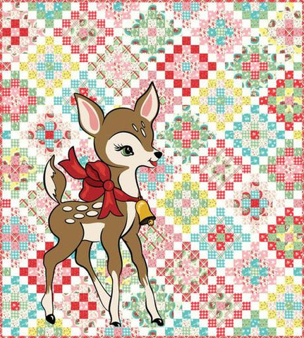 "This kit features fabrics from the ""Deer Christmas"" collection by Urban Chiks, and includes all the fabric cut into 2.5"" strips ready to sew along with the Digital Deer Panel.   The binding and background will also be precut. The finished quilt measures 70"" x 78"" and includes the pattern, fabric for the top, and binding.   Manufacturer: Moda  Designer: Urban Chiks Collection: Deer Christmas Material: 100% Cotton  SKU: K31160 Weight: Quilting"