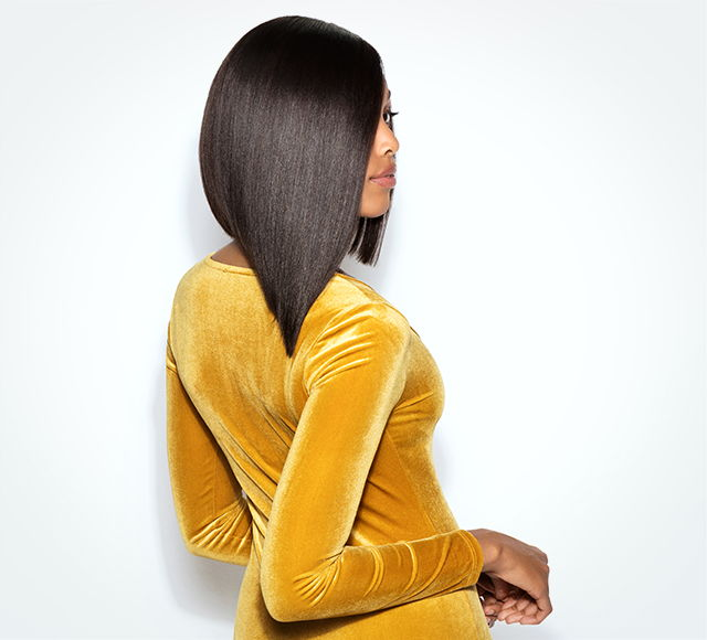 Straight Side Part Asymmetrical Bob Lace Wig by Mayvenn Hair