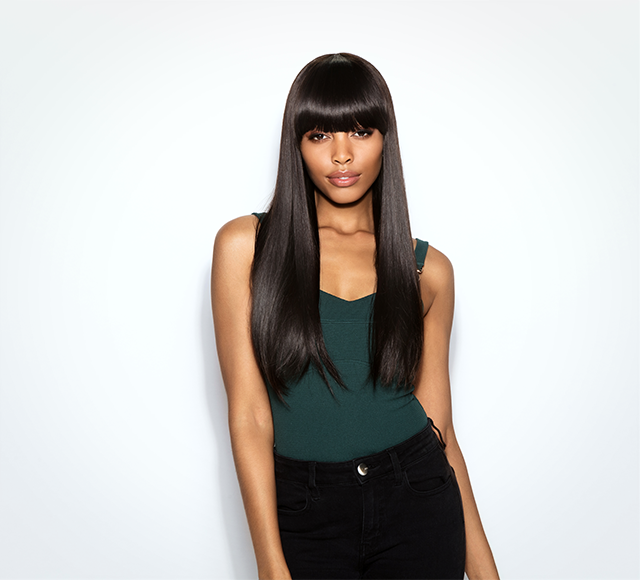 Straight Top Lace With Bangs Wig by Mayvenn Hair