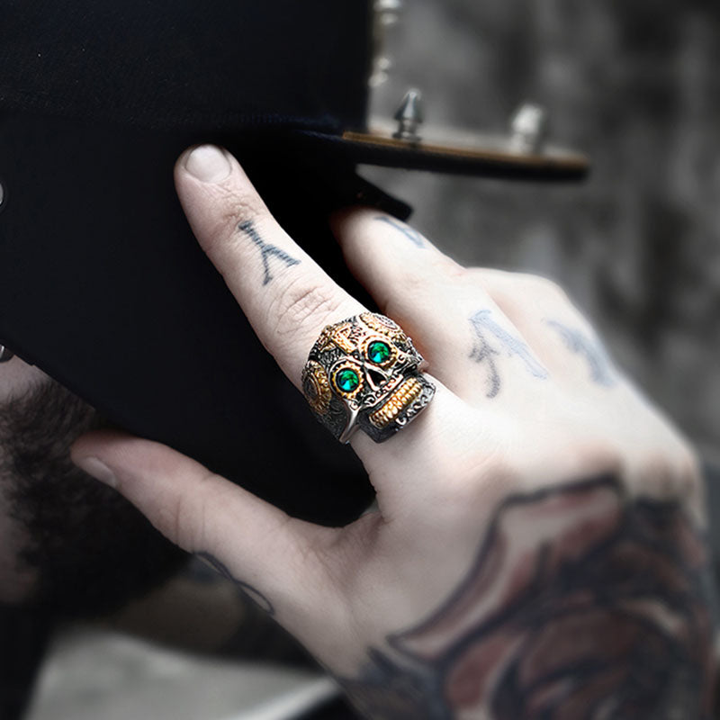 Steampunk Retro Skull Ring