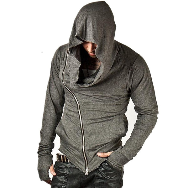 Striking Zippered Hooded Sweatshirt