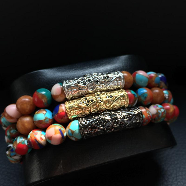 Colorful Emperor stone Beads Bracelet