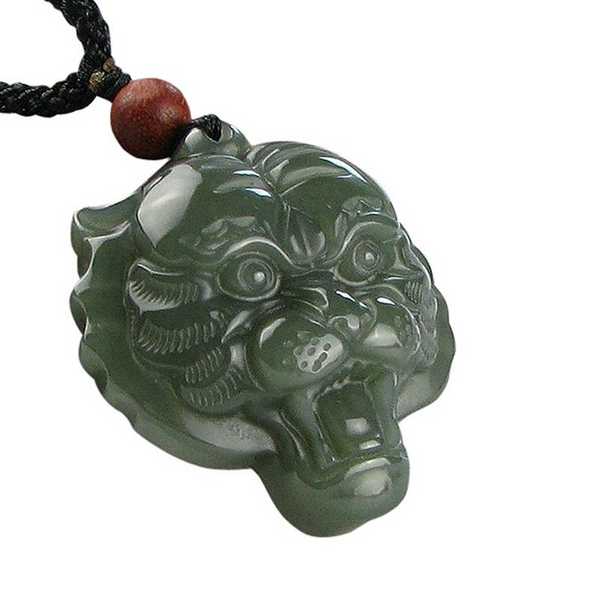 Hetian Jade Lion-Shaped Pendant Stone