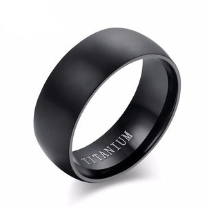 Black Titanium Wedding Band Ring