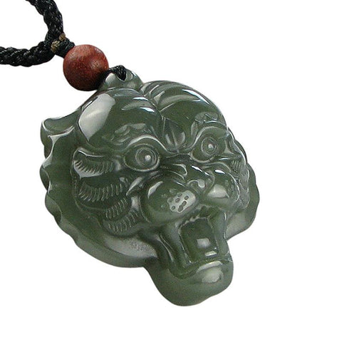 Image of Hetian Jade Lion-Shaped Pendant