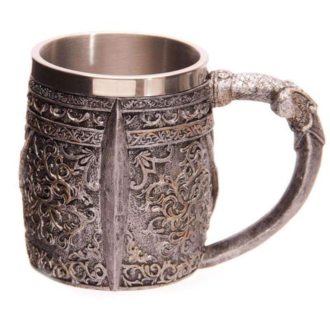 Image of Skull Viking Warrior Beer Mug