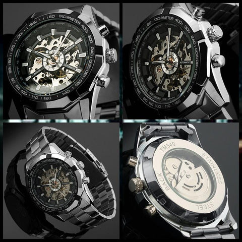 Luxury skeleton Mechanical Watch [ 2 Variation ]