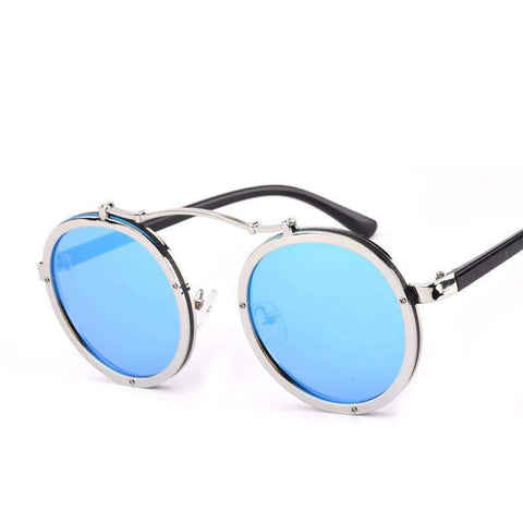8b21903f229 Image of Round Metal Steampunk Sunglasses - Unisex ...