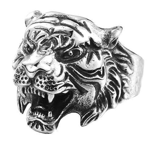 Men's Tiger Head Ring