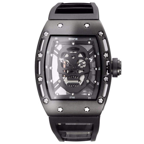 Image of Men's See Through Skull Watch