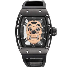 skull watch black