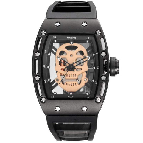 Image of skull watch black