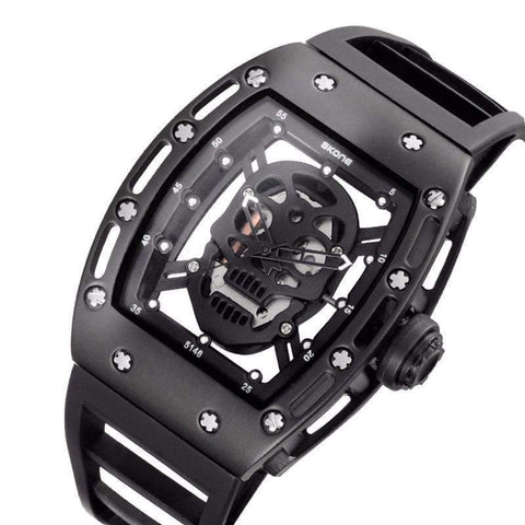 Image of rubber band skull watch