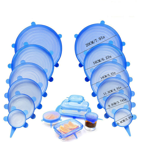 Image of 6Pcs/Set Stretch & Seal Lids
