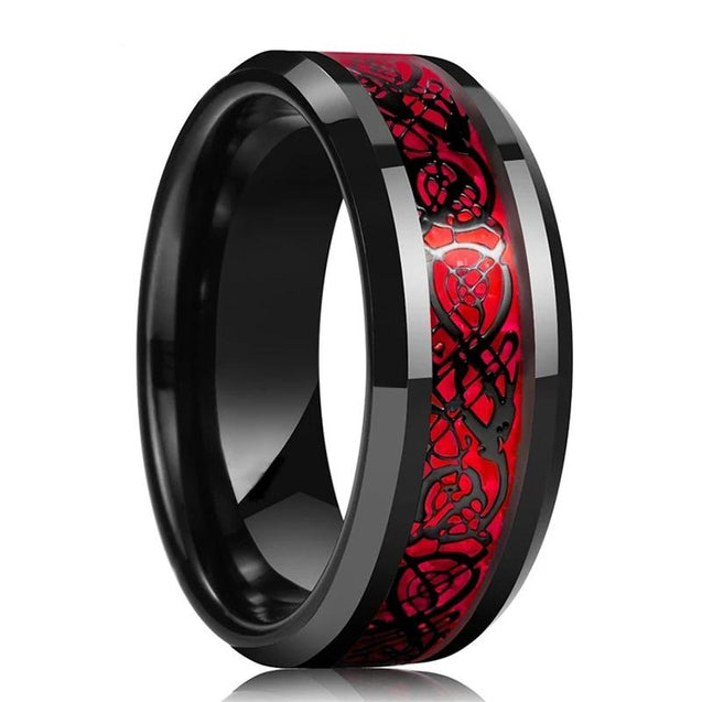 Red Tungsten Ring