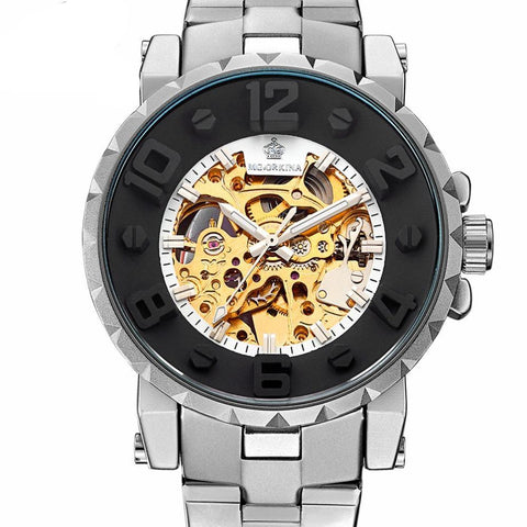 Image of Mechanically-Styled Automatic Skeleton Wristwatch