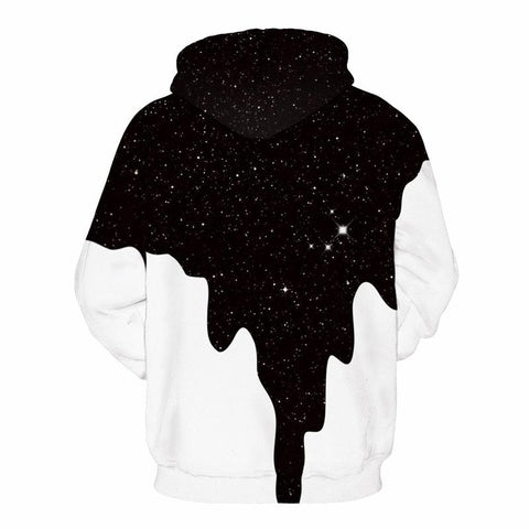 Image of Spilled Milk Space Galaxy 3D Hoodies