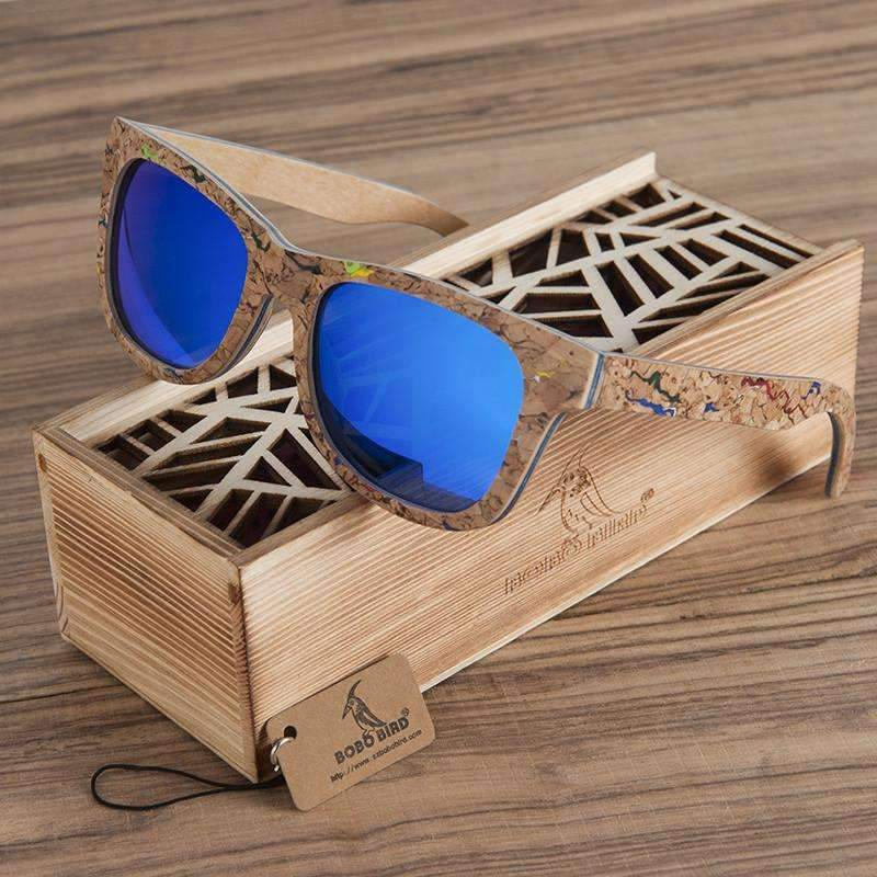 Handmade Bamboo Wood Sunglasses With Gift Box