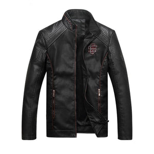 Men's Slim Fit Casual Leather Jacket