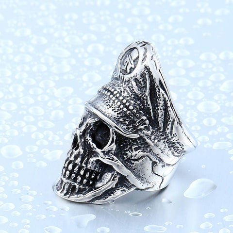 Image of Legion Officer Punk Skull Ring