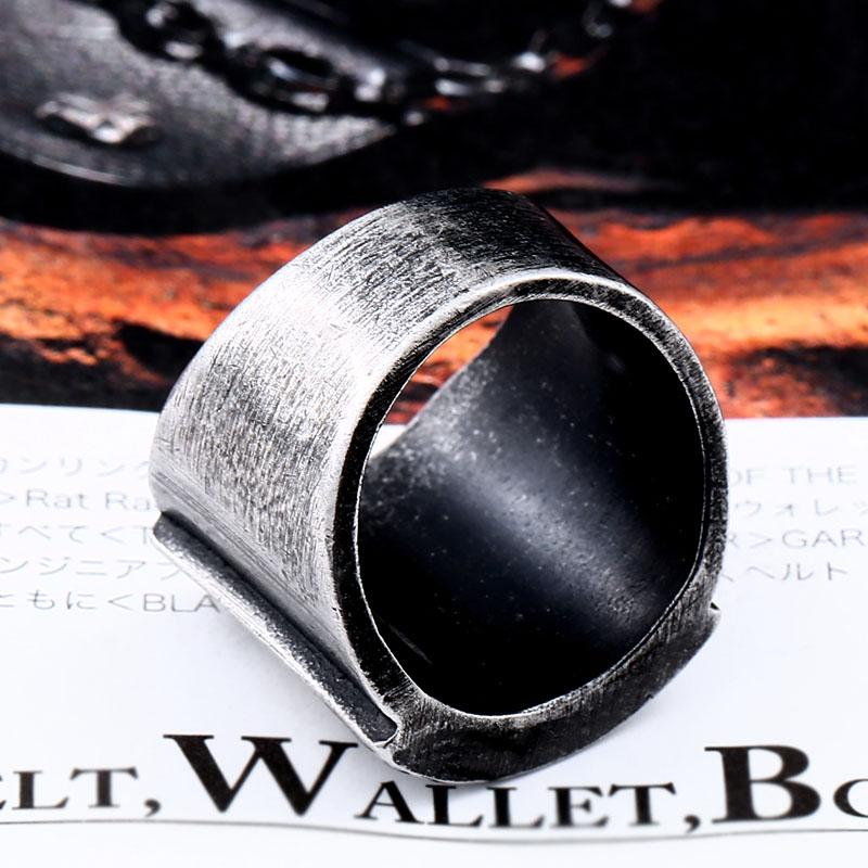 Stainless Steel Men's Triangle Ring