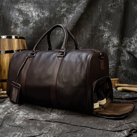 Big Capacity Genuine Cow Leather Duffle Bag