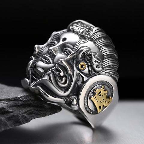 Mara Demon Face Ring