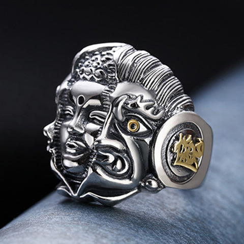 Buddha And Devil Men Ring