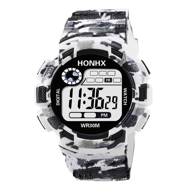 White Camouflage Watch