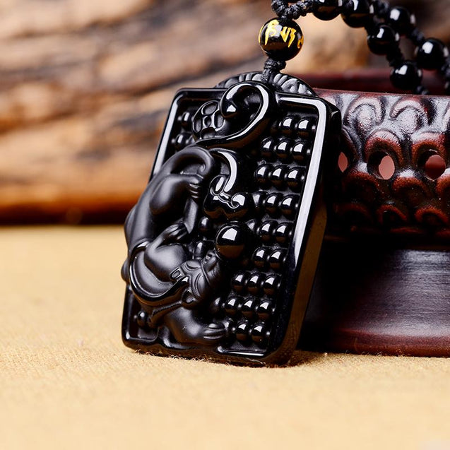 Obsidian Black Panther Necklace