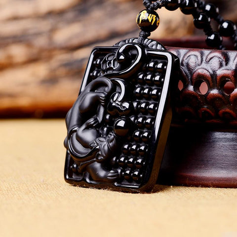 Image of Obsidian Black Panther Necklace