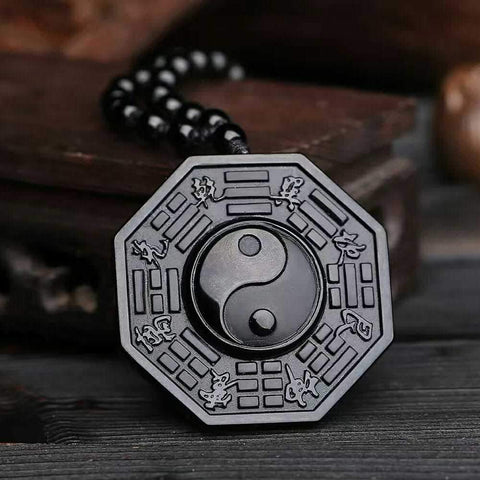 Image of Yin and Yang Obsidian Pendant