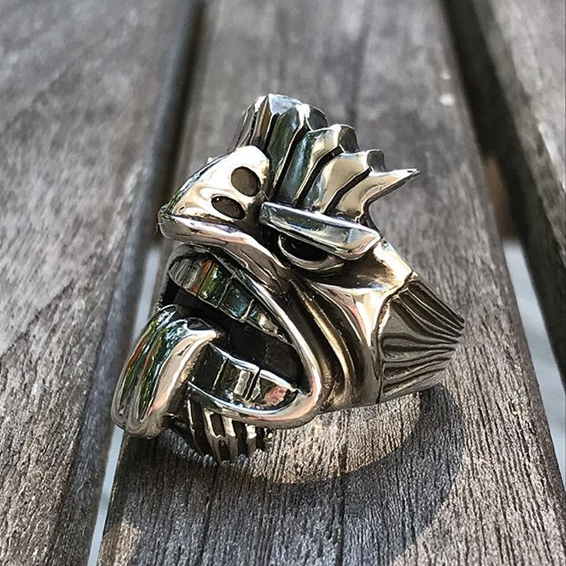 Māori Mythology Silver Stainless Steel Tiki Totem Rings