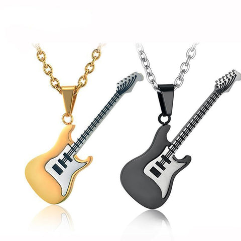 Image of Guitar Pendant Necklace