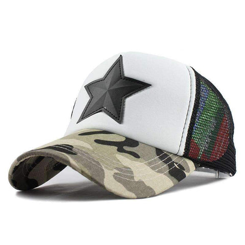 Image of Camouflage Cap  With Star- [5 Variants]