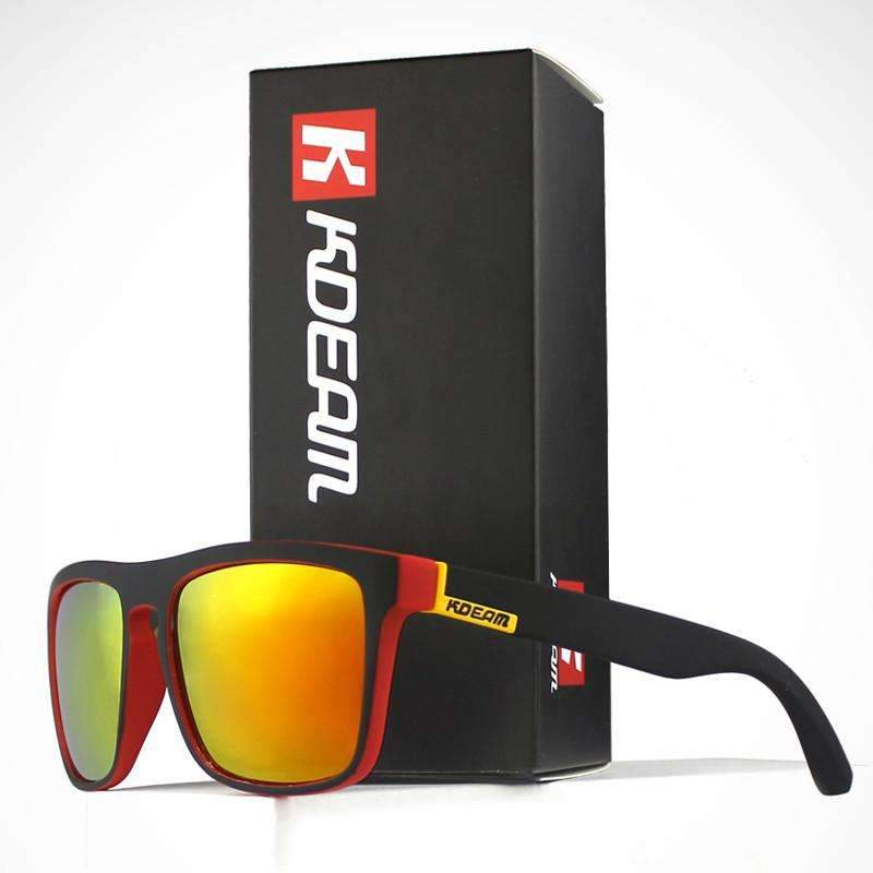 Kdeam Polarized Square Sunglasses  With Box