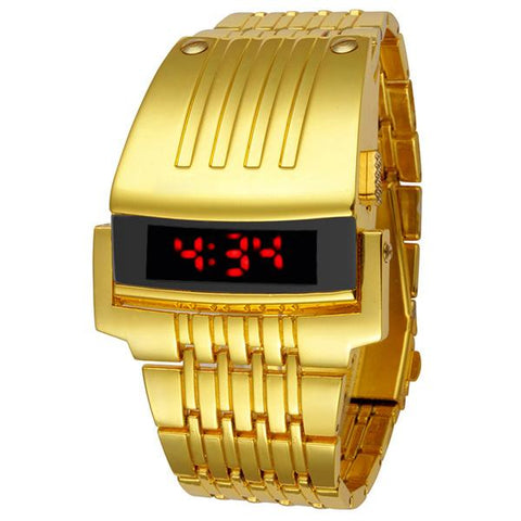 Image of Stainless Steel LED Luxury Wrist Watch