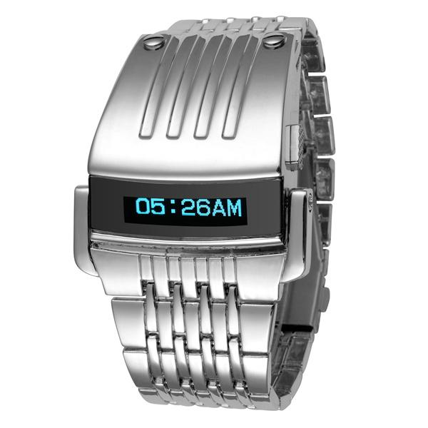 Stainless Steel LED Luxury Wrist Watch