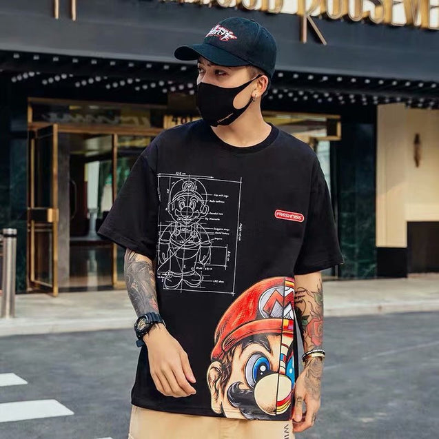 Game Cartoon Style Harajuku T-Shirt