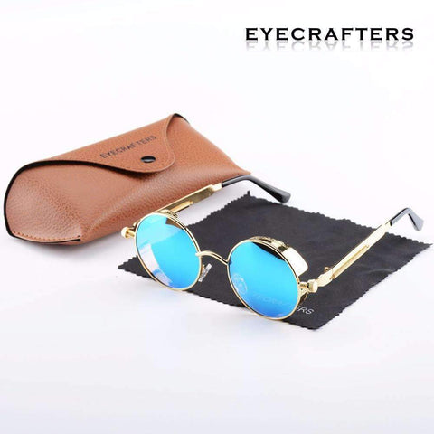 Image of Round Polarized Unisex Sunglasses  With Side Shield [ 10 Variation ]