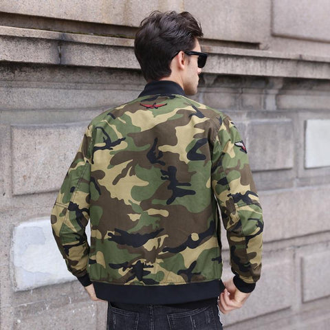 Image of Men's Camouflage Bomber Jacket Men